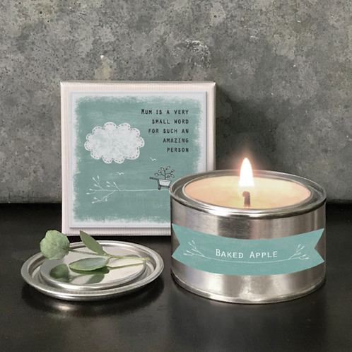 Boxed candle-Mum is a small word