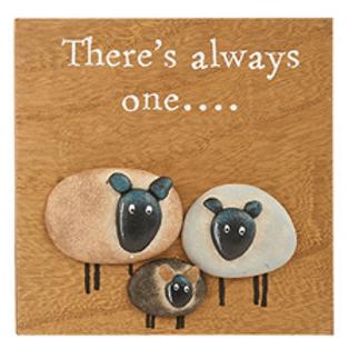 Pebble Sheep Plaque-Always One
