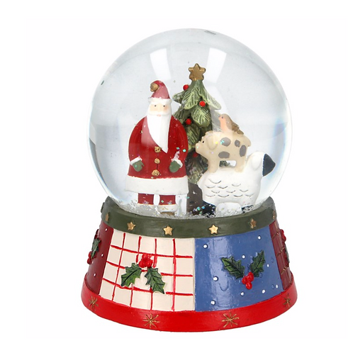 Musical Snow Globe 13cm -Farm Stack