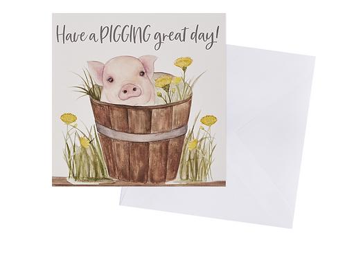 Piggin Great Day Card