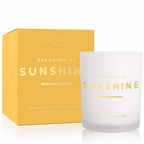 SENTIMENT CANDLE | DREAMING OF SUNSHINE | POMELO AND LYCHEE FLOWER