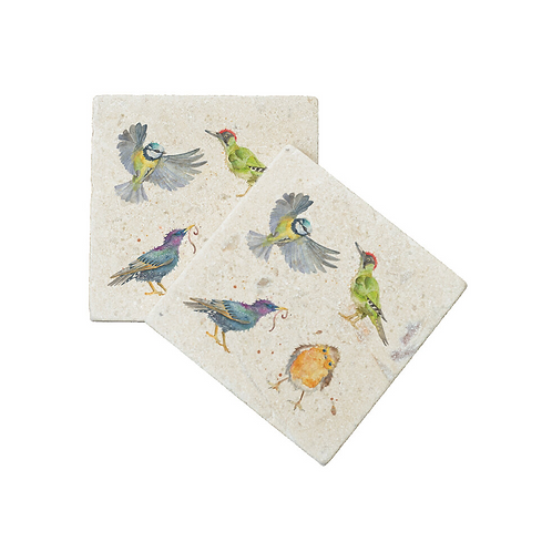 THE BRITISH COLLECTION: BIRDS COASTERS X2