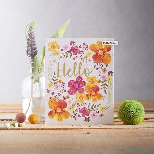 Hello flowers – wildflower plantable seed card