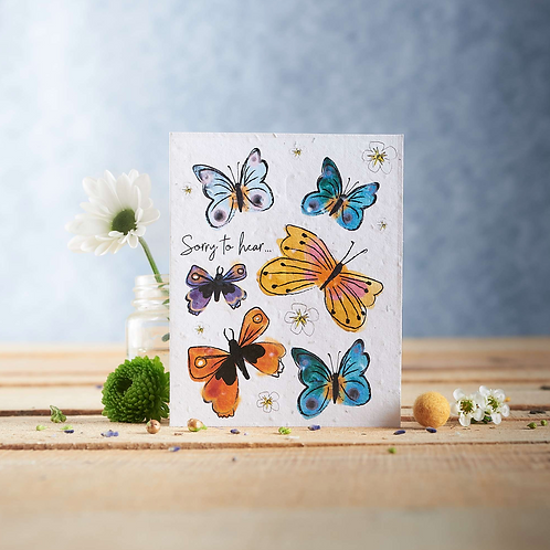Sorry to hear – wildflower plantable seed card