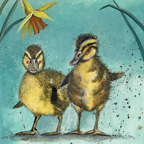 Ducklings Blank Card