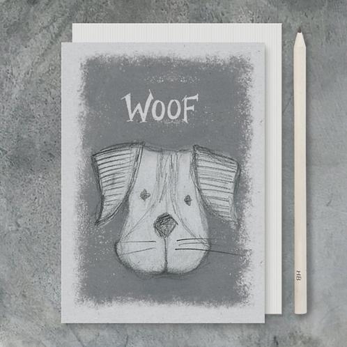 Animals Head Card-Woof