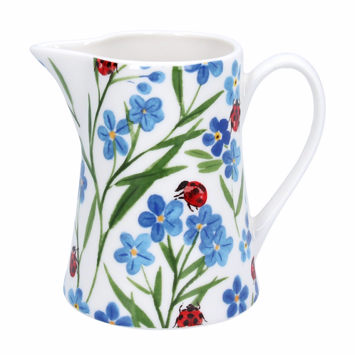 Ceramic Jug Small - Forget Me Not/Ladybird