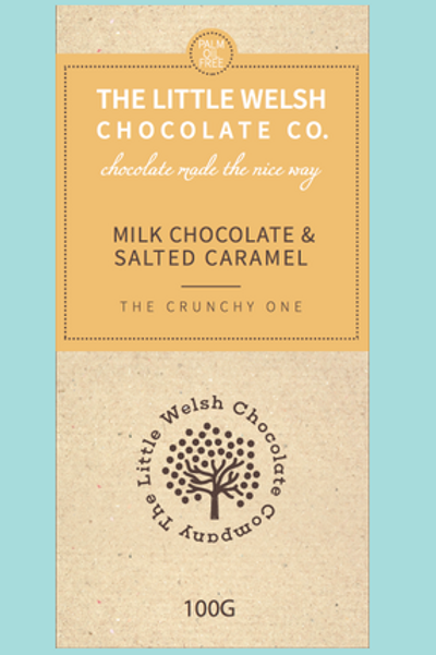 MILK CHOCOLATE & SALTED CARAMEL