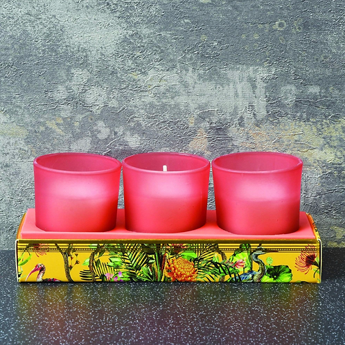 Candlelight Chinoiserie Set of 3-Oriental Lily