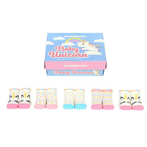 Baby Unicorn Sock Giftbox-Girls