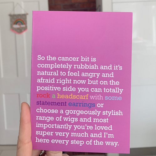 ROCK A HEADSCARF: CANCER CARD FOR FRIEND OR LOVED ONE
