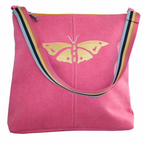 Gold Butterfly Shoulder Bag-Pink