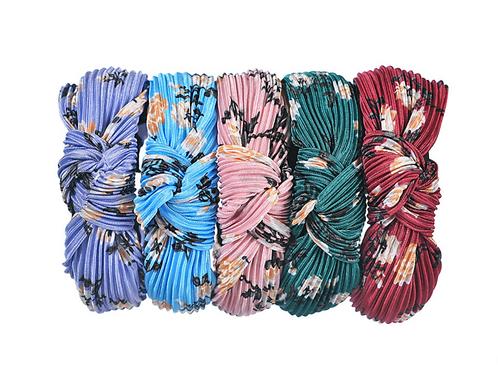 Pleated floral headband