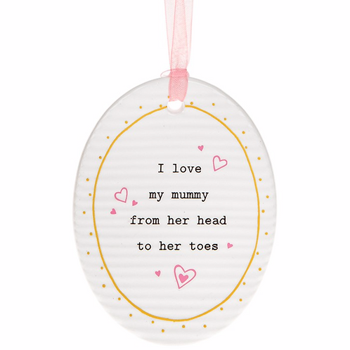 Thoughtful Words Mother's Day Oval Plaque Mummy