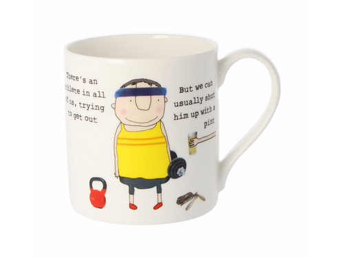 Rosie Made A Thing There's An Athlete In All Of Us Mug