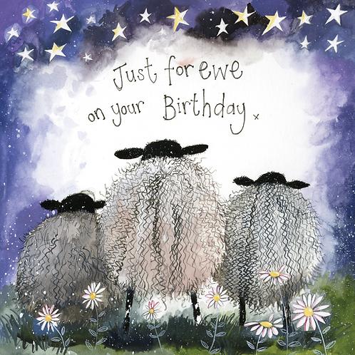 Starlight Sheep Birthday Card
