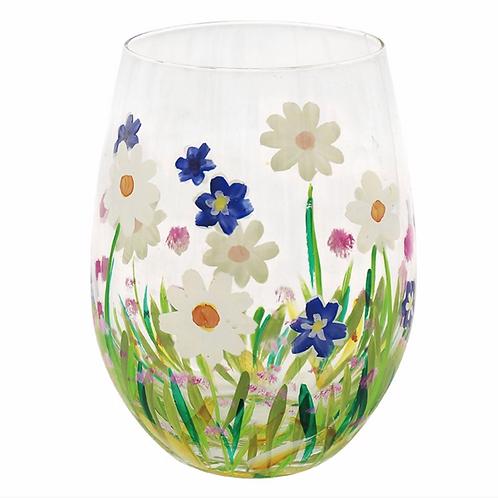 Flower Stemless Glass Daisies