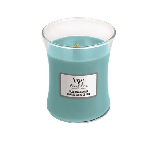 Blue Java Banana Woodwick Medium Candle