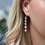 Thumbnail: Silver Plated Multi Star Crystal Drop Earrings