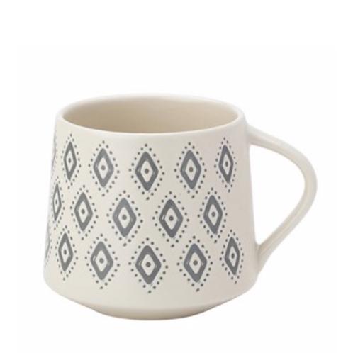 Artisan Aztec Mug Matt Cream