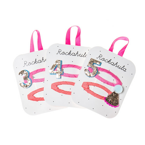Birthday Glitter Clips - Ages 3 4 5
