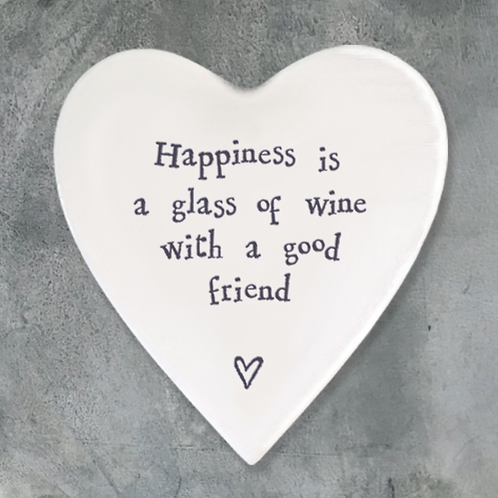 Heart Coaster-Happiness Glass Wine