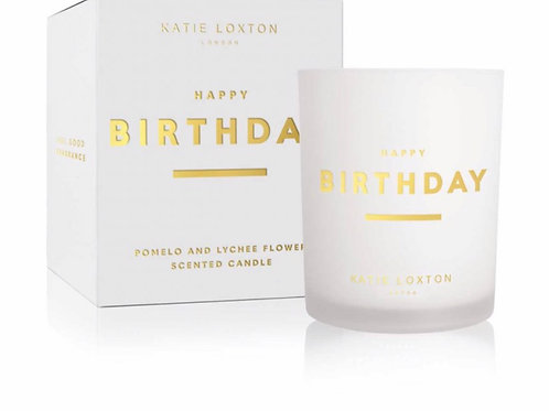 SENTIMENT CANDLE - HAPPY BIRTHDAY | POMELO AND LYCHEE FLOWER