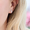 Thumbnail: Silver Plated Crystal Owl Stud Earrings