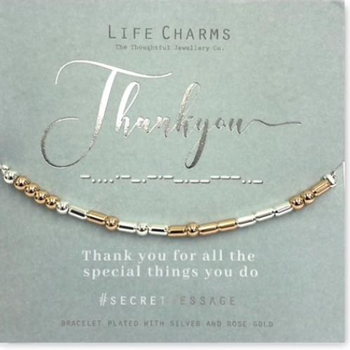 THANK YOU - Secret Message Bracelet