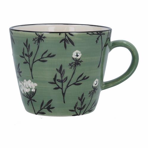 Green Cow Parsley Mug