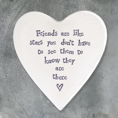 Hearts Coaster-Friends are stars
