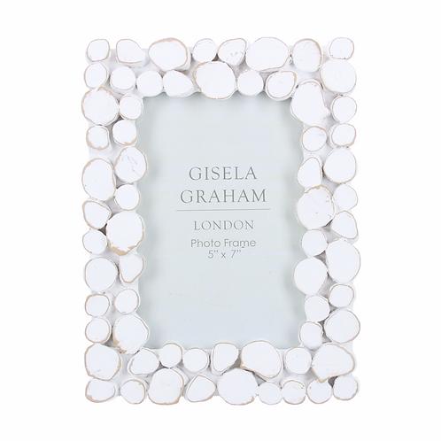 Resin Photo Frame (5x7) - White Wash Pebble