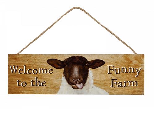 FUNNY FARM SHEEP PLAQUE