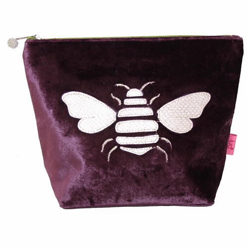 Gold Bee Large Cosmetic Purse