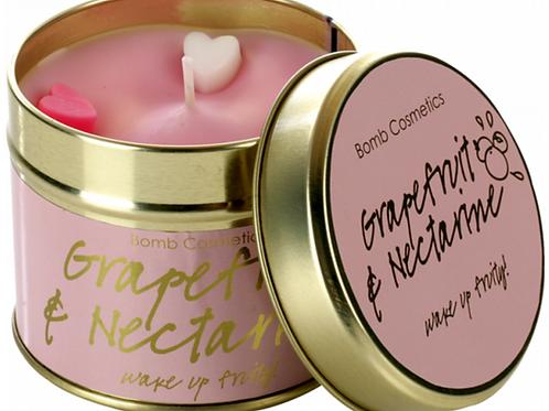 Grapefruit & Nectarine Tin Candle