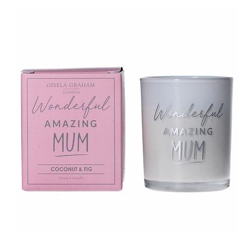 Boxed Sentiment Votive Candle - Mum