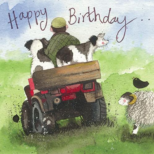 Joy Ride Quad Bike Birthday Card