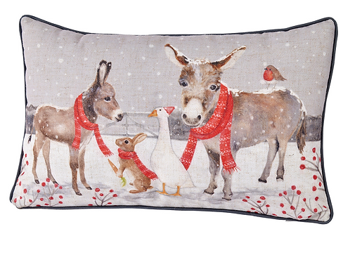 XMAS DONKEY CUSHION