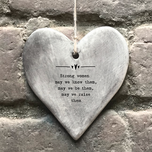 Rustic hanging heart-Strong women