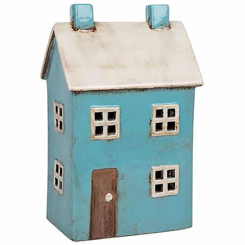 Blue House Tealight
