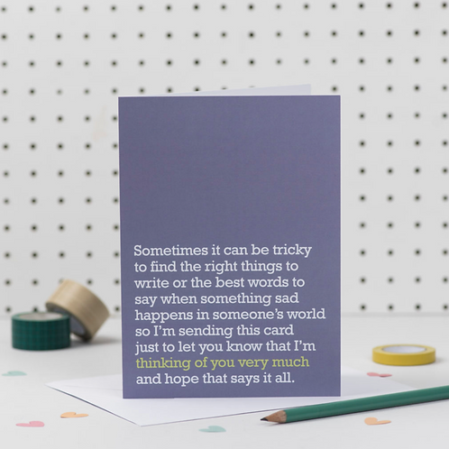 'THINKING OF YOU VERY MUCH' SYMPATHY CARD