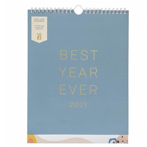 Busy Life Calendar 2021 Blue