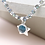 Thumbnail: Silver cube bead and blue crystal bracelet with star