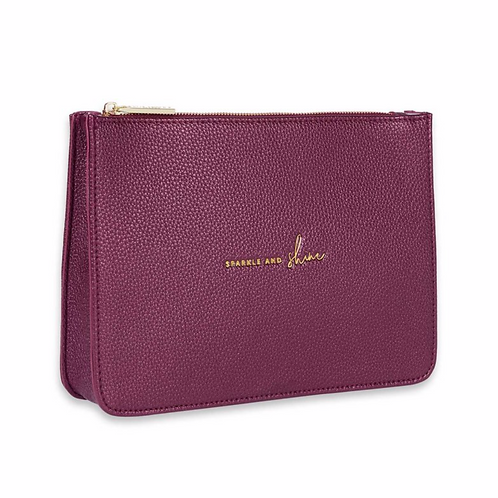 STYLISH STRUCTURED POUCH | SPARKLE AND SHINE | METALLIC BERRY