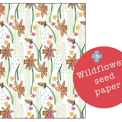 Spring Pattern Plantable Seed Card