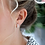 Thumbnail: Silver Plated Crystal Huggie Hoop Earrings