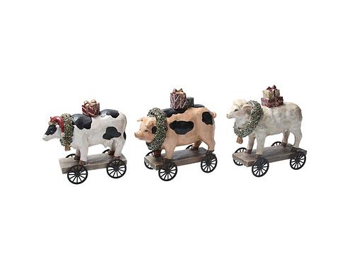 Farmyard Animals on Cart