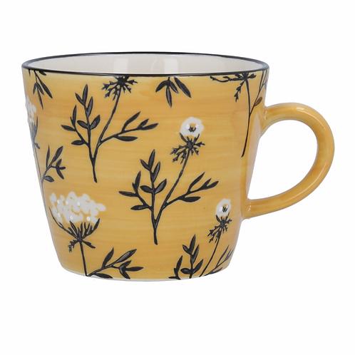 Mustard Cow Parsley Mug