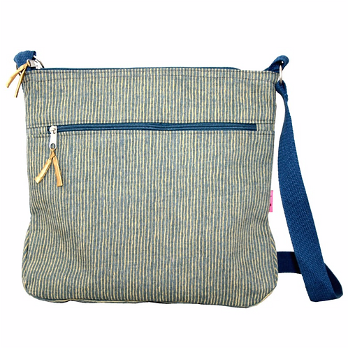 Large Messenger Bag-Mustard Stripe