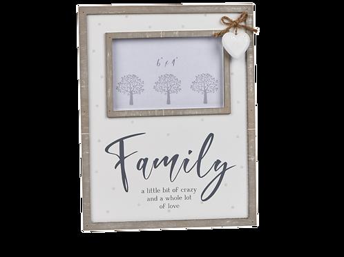 FAMILY FRAME W/HEART